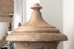 Pair of Red and Pink Marble Italian Vase in Neoclassical Style - 1964068