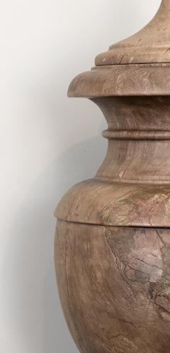 Pair of Red and Pink Marble Italian Vase in Neoclassical Style - 1964070