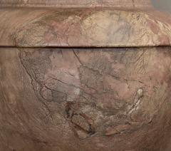 Pair of Red and Pink Marble Italian Vase in Neoclassical Style - 1964071