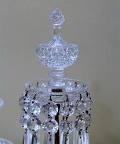 Pair of Regency 2 Light Crystal Candelabra London Circa 1800 - 1685981