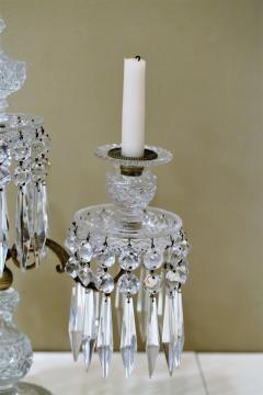 Pair of Regency 2 Light Crystal Candelabra London Circa 1800 - 1685982
