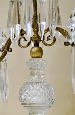 Pair of Regency 2 Light Crystal Candelabra London Circa 1800 - 1685984