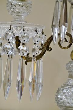 Pair of Regency 2 Light Crystal Candelabra London Circa 1800 - 1685985