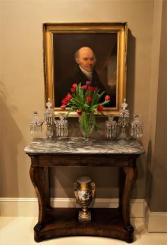 Pair of Regency 2 Light Crystal Candelabra London Circa 1800 - 1685986