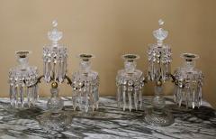 Pair of Regency 2 Light Crystal Candelabra London Circa 1800 - 1685987