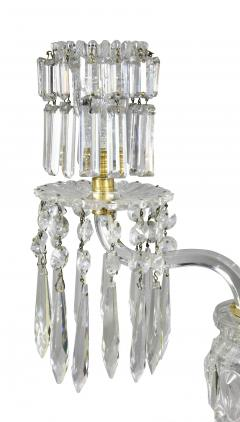Pair of Regency Cut Glass Gilt Bronze Candelabra Attributed to Parker Perry - 1521704