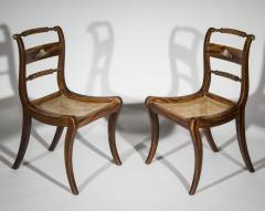 Pair of Regency Faux Painted Klismos Chairs - 1071557