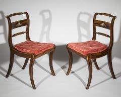 Pair of Regency Faux Painted Klismos Chairs - 1071559
