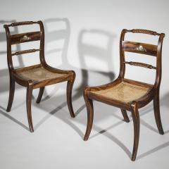 Pair of Regency Faux Painted Klismos Chairs - 1071560