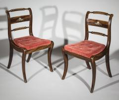 Pair of Regency Faux Painted Klismos Chairs - 1071561