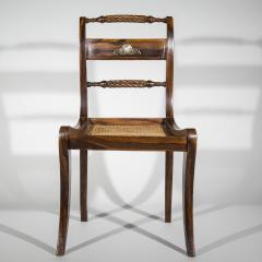 Pair of Regency Faux Painted Klismos Chairs - 1071566