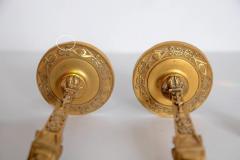 Pair of Regency Gilt Bronze Candlesticks in the Egyptian Taste - 1991458