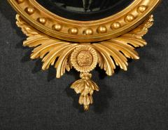 Pair of Regency Giltwood Convex Mirrors - 992267