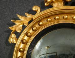 Pair of Regency Giltwood Convex Mirrors - 992270