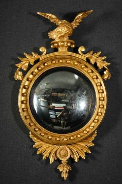 Pair of Regency Giltwood Convex Mirrors - 992271