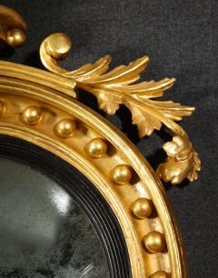 Pair of Regency Giltwood Convex Mirrors - 992272