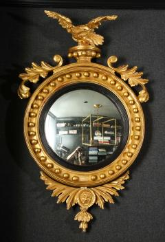 Pair of Regency Giltwood Convex Mirrors - 992275