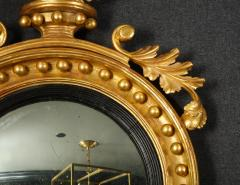 Pair of Regency Giltwood Convex Mirrors - 992277