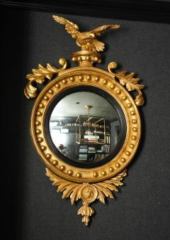 Pair of Regency Giltwood Convex Mirrors - 992278