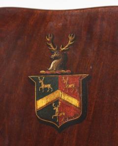 Pair of Regency Mahogany Armorial Hall Chairs - 1558074