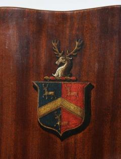 Pair of Regency Mahogany Armorial Hall Chairs - 1558075