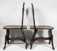 Pair of Regency Mahogany Armorial Hall Chairs - 1558081