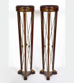 Pair of Regency Style Mahogany Pedestals by Grosfeld House - 1312436