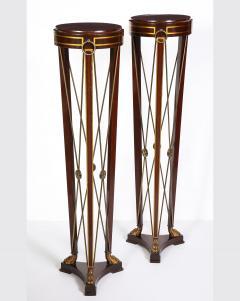 Pair of Regency Style Mahogany Pedestals by Grosfeld House - 1312437