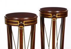 Pair of Regency Style Mahogany Pedestals by Grosfeld House - 1312438