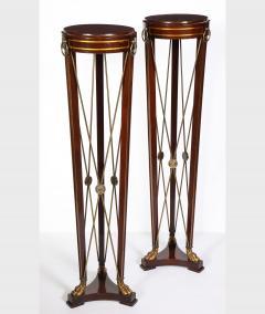 Pair of Regency Style Mahogany Pedestals by Grosfeld House - 1312443
