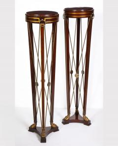 Pair of Regency Style Mahogany Pedestals by Grosfeld House - 1312446