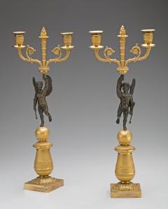 Pair of Restauration Gilt Bronze Candelabra - 212967