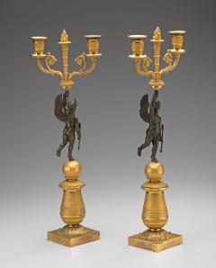 Pair of Restauration Gilt Bronze Candelabra - 212968
