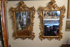 Pair of Rococo Classical Giltwood Mirrors - 1006666
