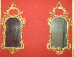Pair of Rococo Original Gilded Mirrors with Very Fine Carving - 117144
