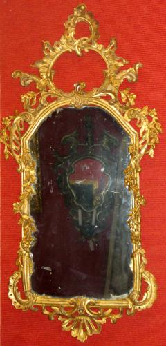 Pair of Rococo Original Gilded Mirrors with Very Fine Carving - 117145