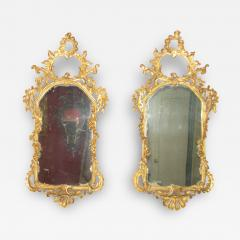 Pair of Rococo Original Gilded Mirrors with Very Fine Carving - 118504