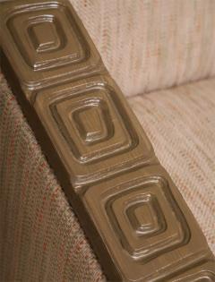 Pair of Romweber Limed Oak Revolving Club Chairs - 373231