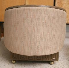 Pair of Romweber Limed Oak Revolving Club Chairs - 373234