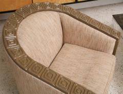Pair of Romweber Limed Oak Revolving Club Chairs - 373236