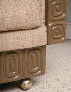 Pair of Romweber Limed Oak Revolving Club Chairs - 373237