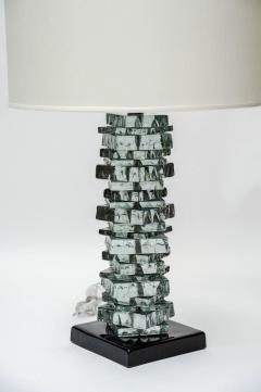 Pair of Rough Cut Edges Murano Glass Table Lamps - 894612