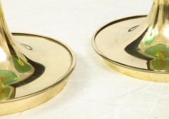 Pair of Round Emerald Green Murano Glass and Brass Martini Tables Italy 2021 - 2004421
