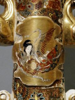 Pair of Satsuma table lamps Japan end of the 19th Century - 913384