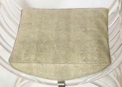 Pair of Savonarola Form Lucite Benches - 1965779