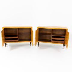 Pair of Scandinavian Mid Century Two Door Low Cabinets - 2002506