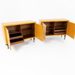Pair of Scandinavian Mid Century Two Door Low Cabinets - 2002507