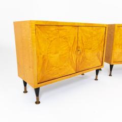 Pair of Scandinavian Mid Century Two Door Low Cabinets - 2002509