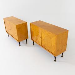 Pair of Scandinavian Mid Century Two Door Low Cabinets - 2002513