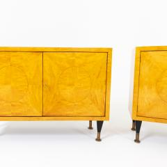 Pair of Scandinavian Mid Century Two Door Low Cabinets - 2002514